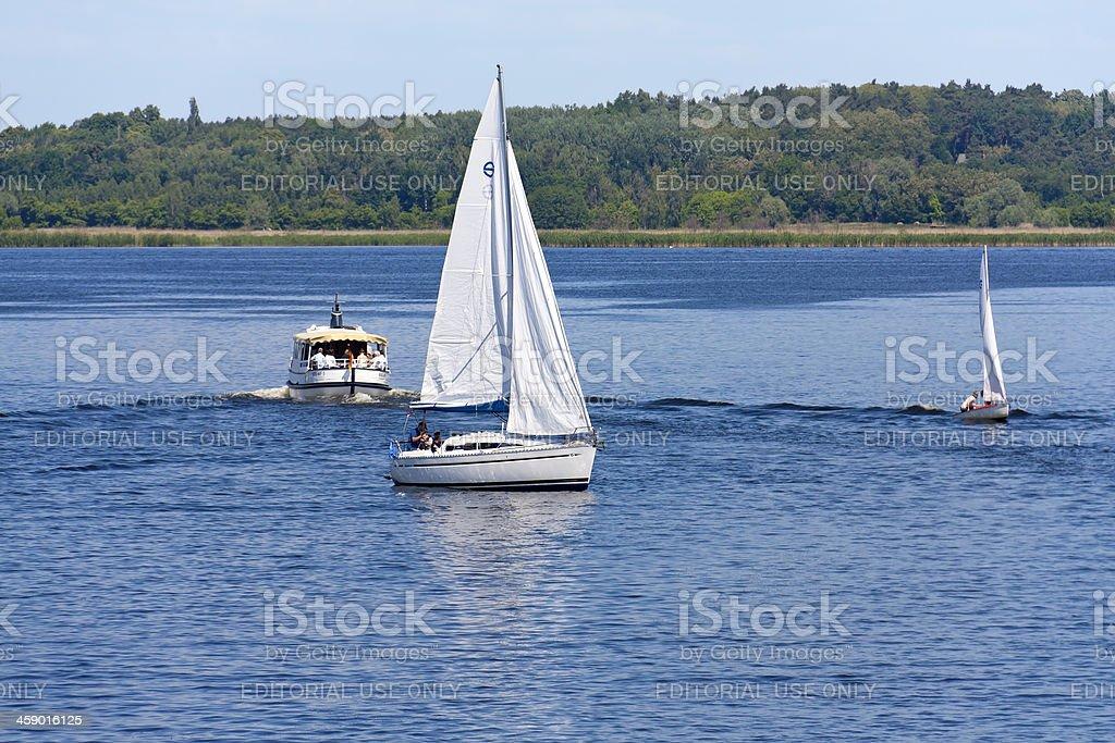 Sailing boat at the River Havel stock photo