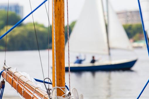 Sailing boat in Hamburg
