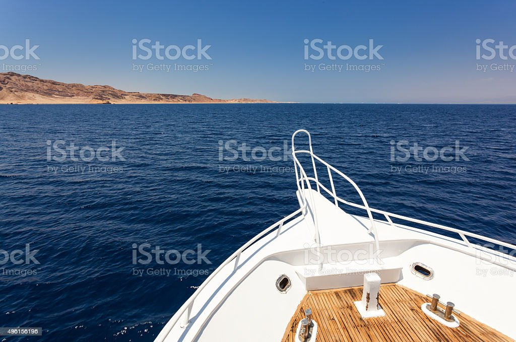 Sailing boat in Red Sea stock photo