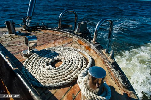 1011210354 istock photo Sailing boat in the sea. Boating detail. 625492732
