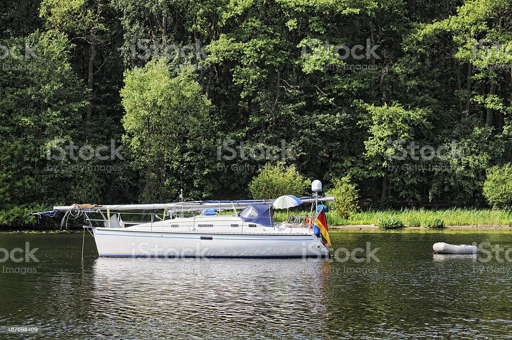 Sailing boat on Wannsee (Berlin - Germany) royalty-free stock photo
