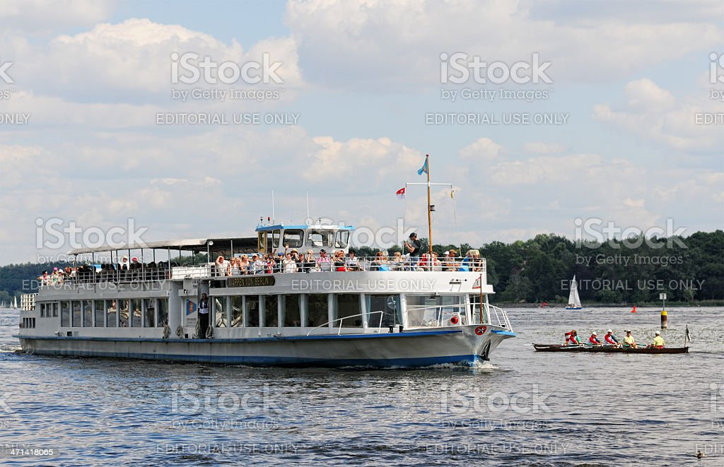 Sailing boat on Wannsee (Berlin - Germany) stock photo