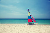 Sailing boat on the beachSame photos and more you can find here: