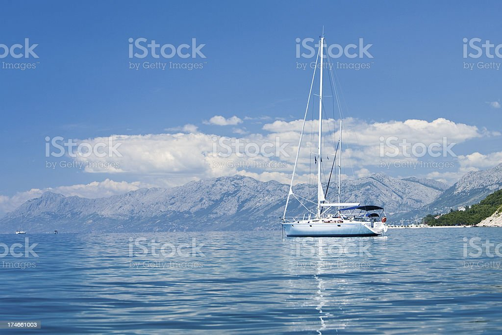 Sailing boat royalty-free stock photo