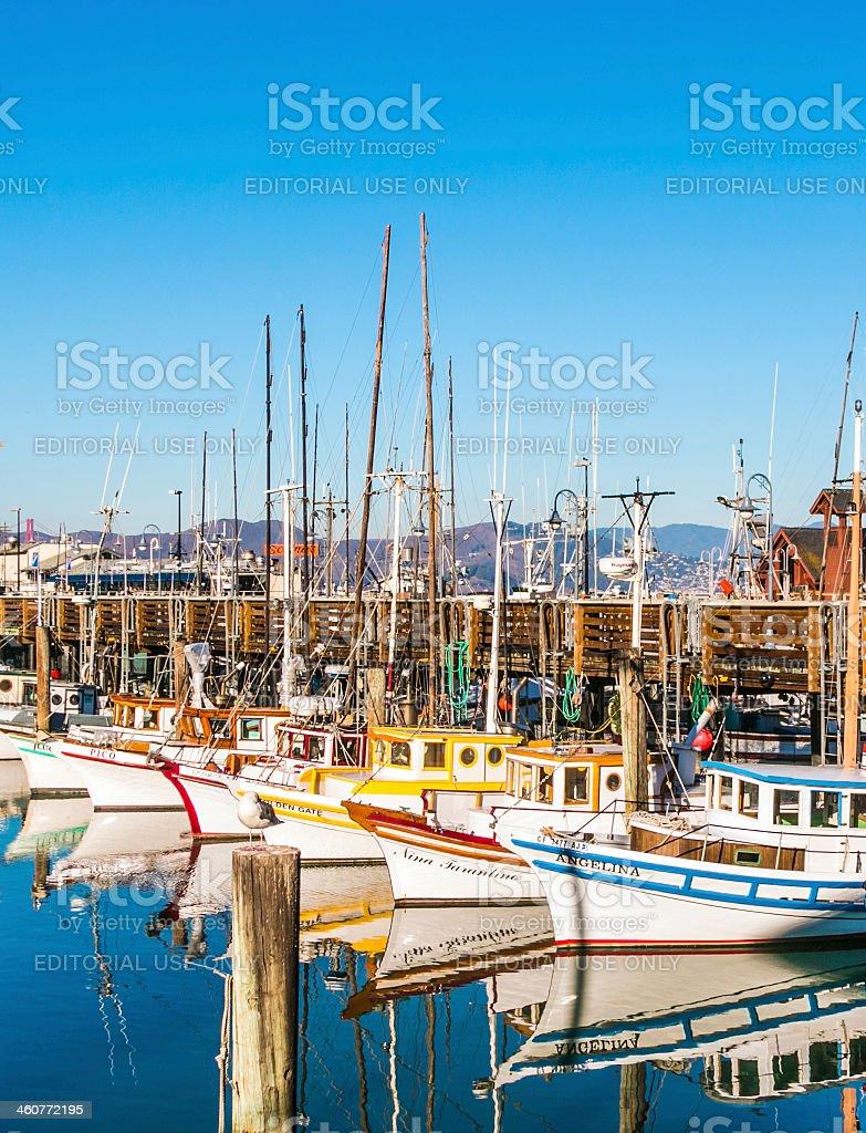 sailing boats at Fishermans Wharf stock photo