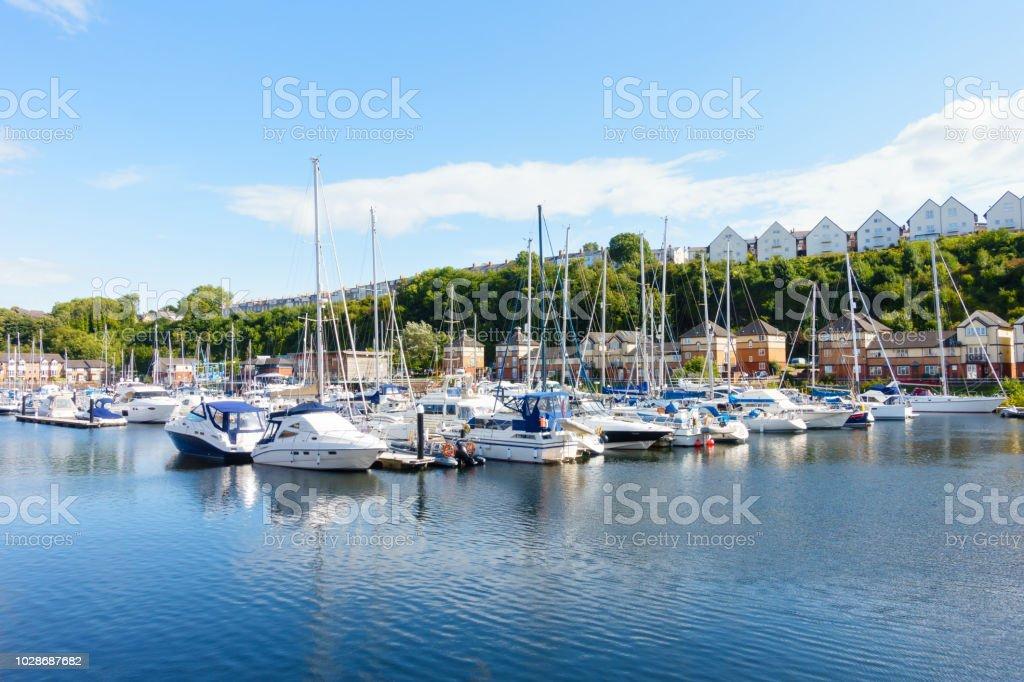 Segeln Boote vertäut am Penarth Marina, Penarth, Cardiff – Foto