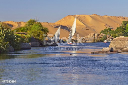 istock Sailing boats on Nile river near Aswan 477390994