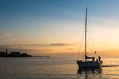 Sailing boats,