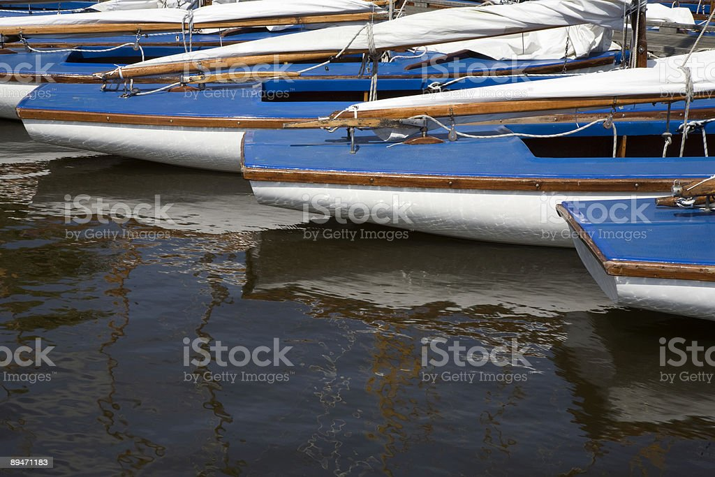 Barcos de vela foto de stock libre de derechos