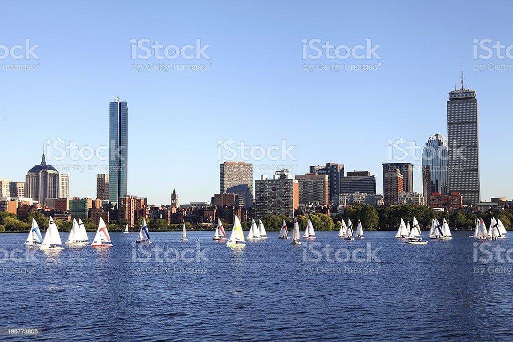 Sailing Boston, Masssachusetts royalty-free stock photo