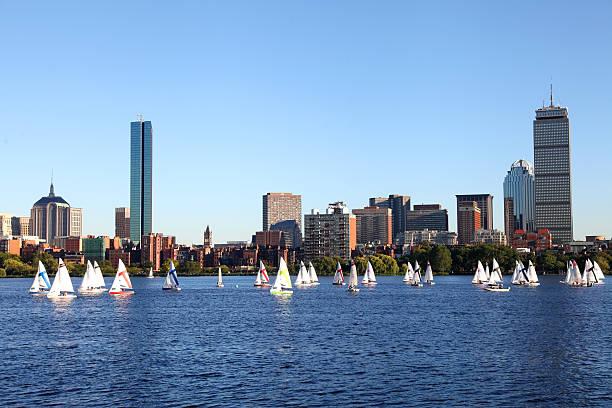 Sailing Boston, Masssachusetts stock photo