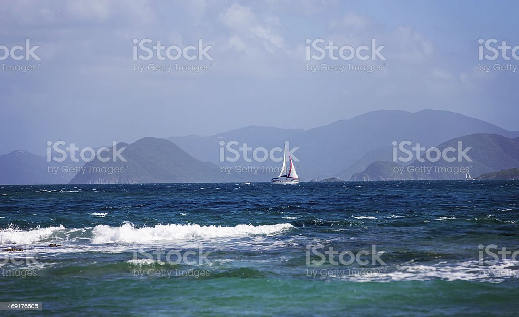 Sailing by the Islands stock photo