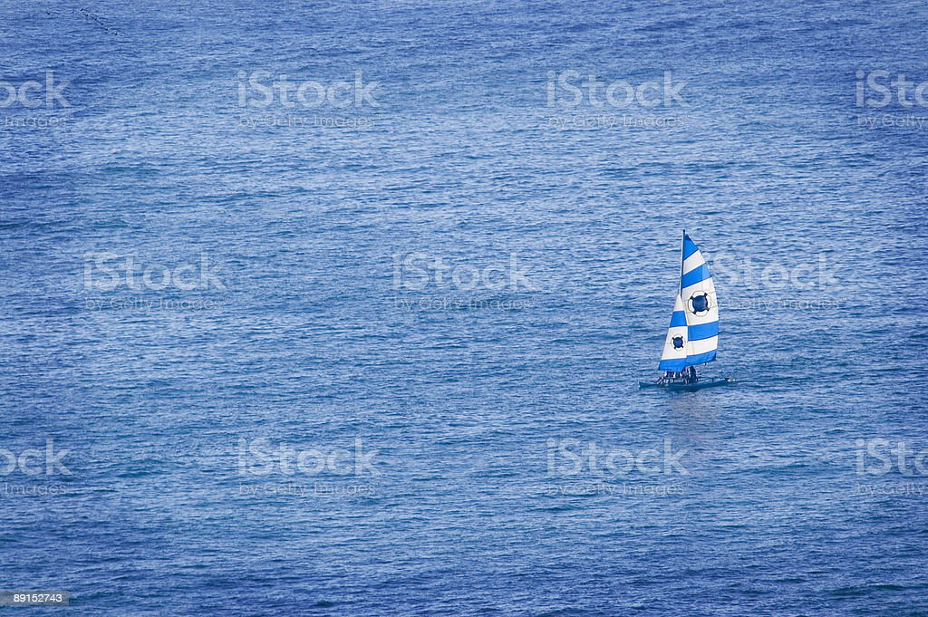 Sailing Catamaran stock photo