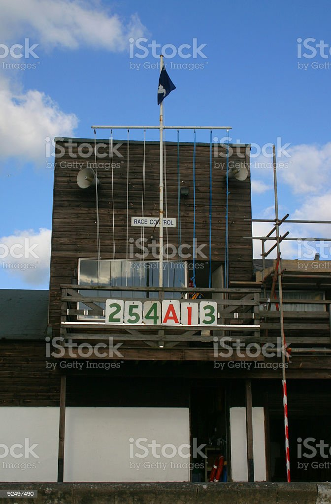Sailing Club Scoring Tower royalty-free stock photo