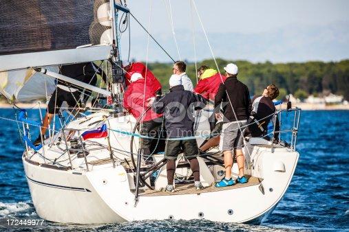 1011210354istockphoto Sailing crew on sailboat 172449977