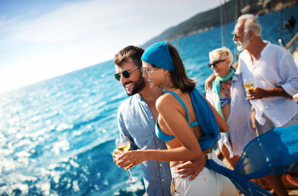 sailing cruise leisure. - enjoying wealthy life imagens e fotografias de stock