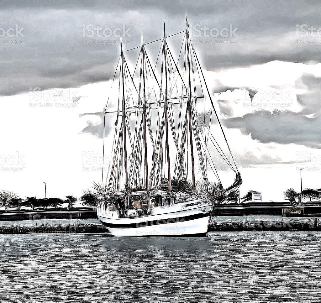 Sailing cruises stock photo