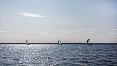 Sailing dinghies, sailing on yachts on water