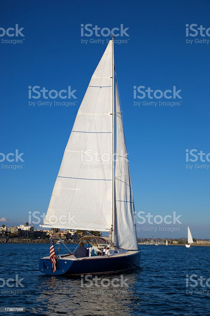 Sailing Dreams in Blue royalty-free stock photo