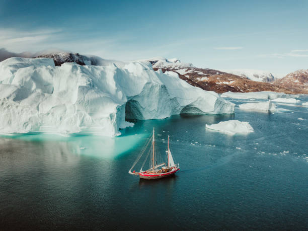 Sailing Expedition in East Greenland stock photo