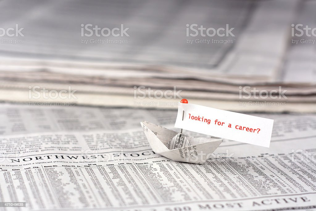 Sailing for a career royalty-free stock photo