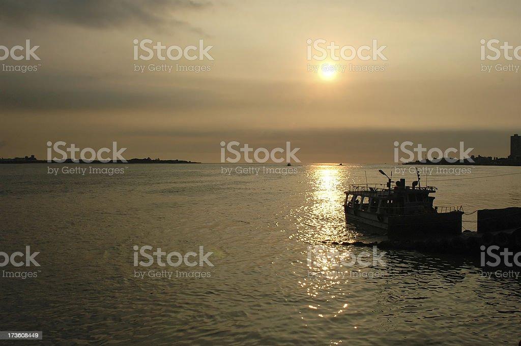 Sailing home stock photo