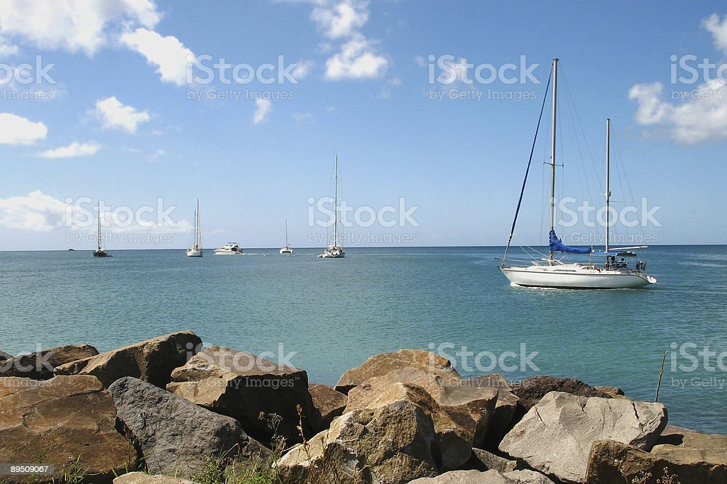 sailing idyll royalty-free stock photo