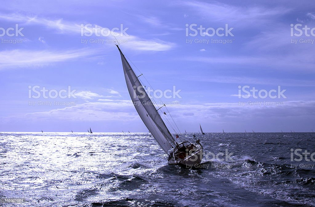 sailing in Atlantic Ocean royalty-free stock photo