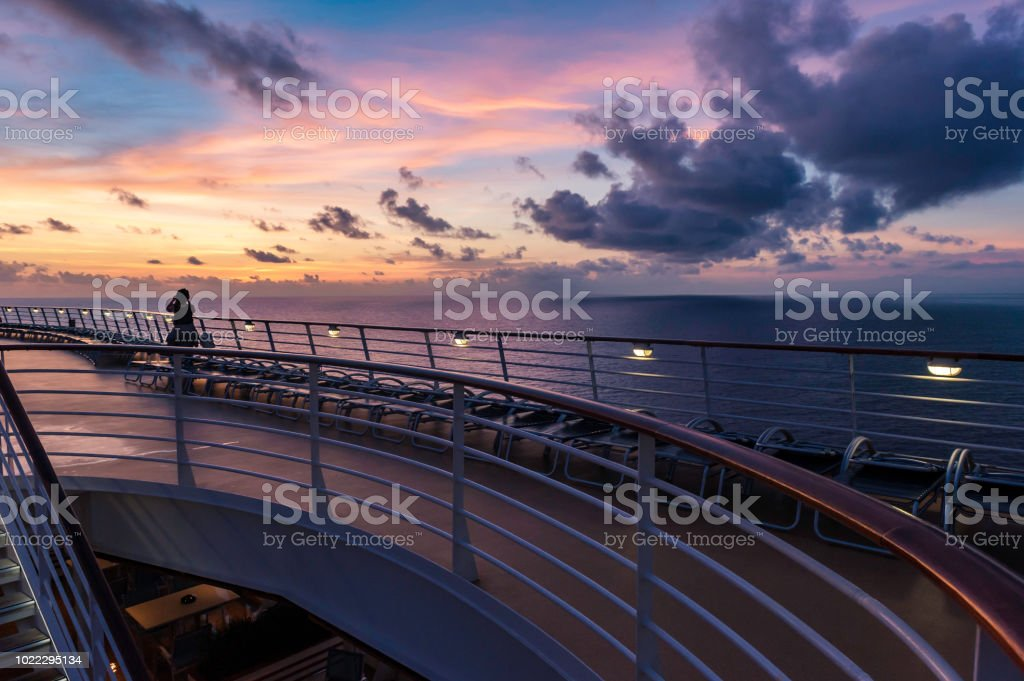 Sailing in Dawn stock photo
