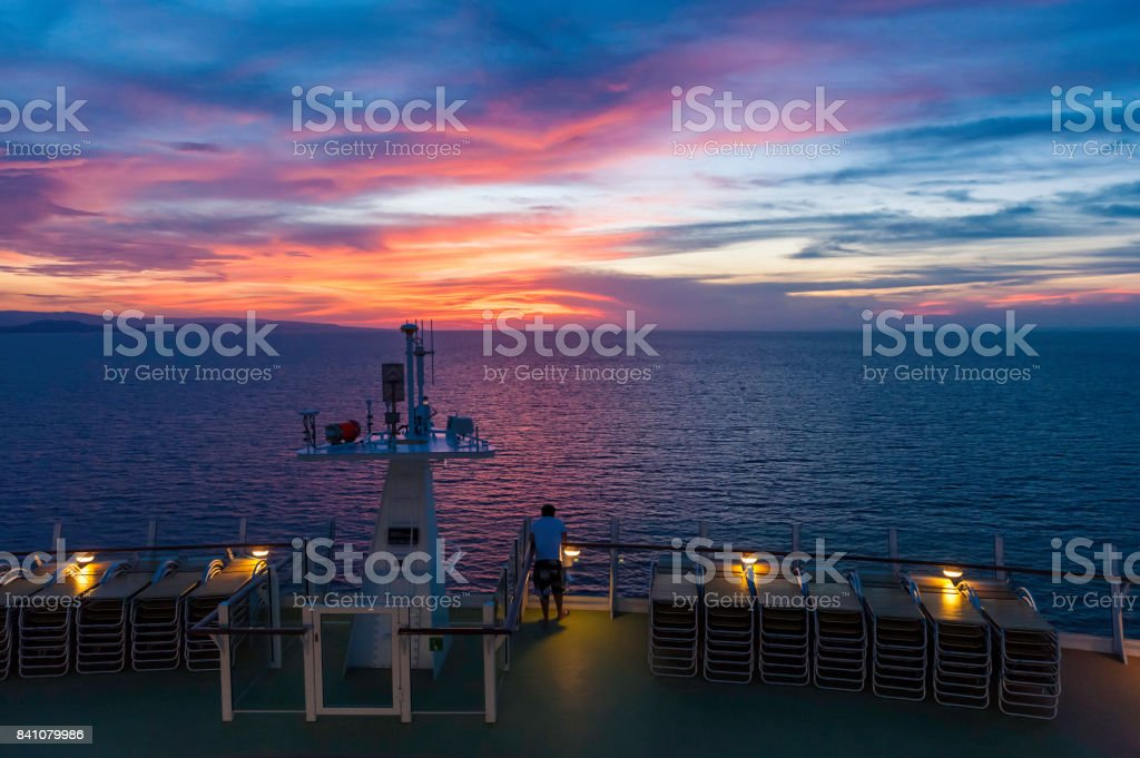 Sailing in Dusk stock photo