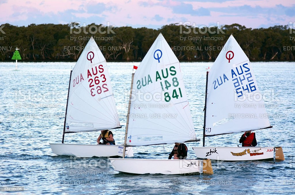Sailing in Gold Coast Queensland Australia stock photo