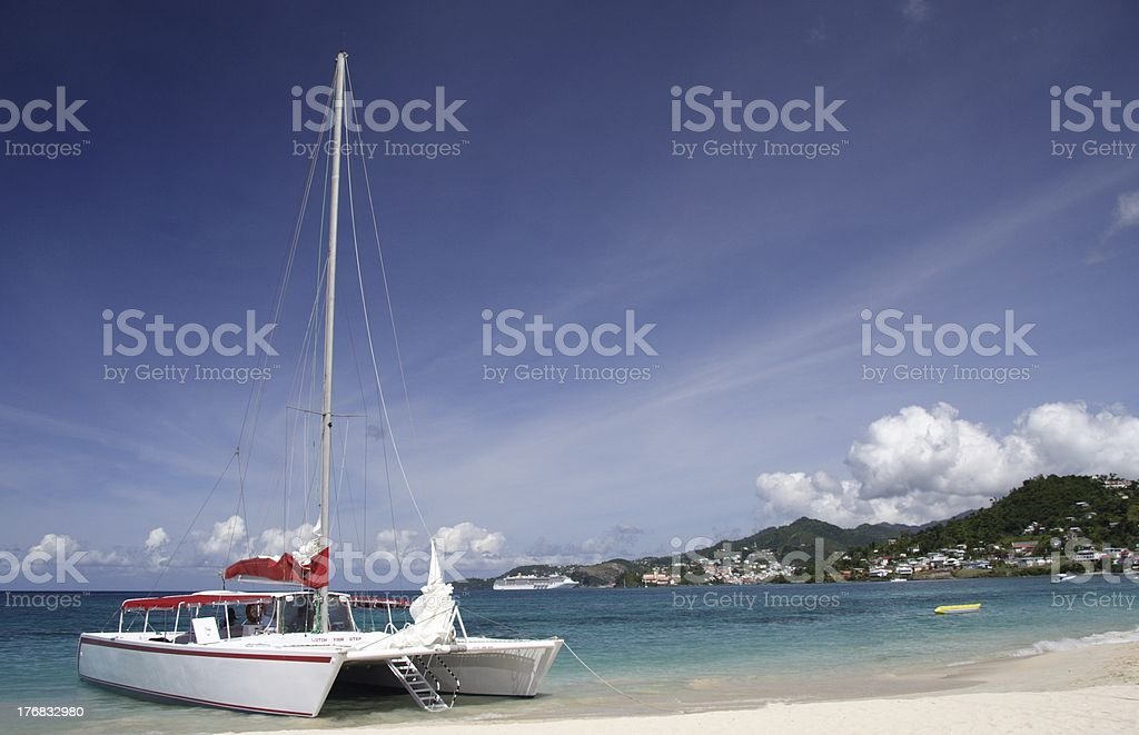 Sailing in paradise royalty-free stock photo