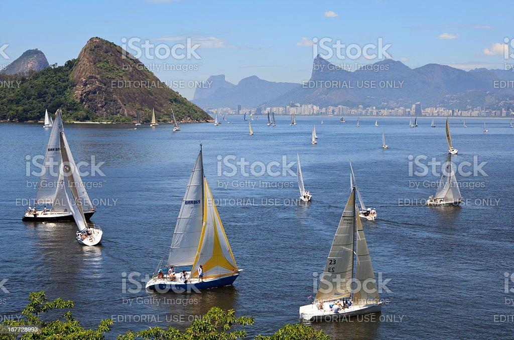 Sailing in Rio de Janeiro stock photo