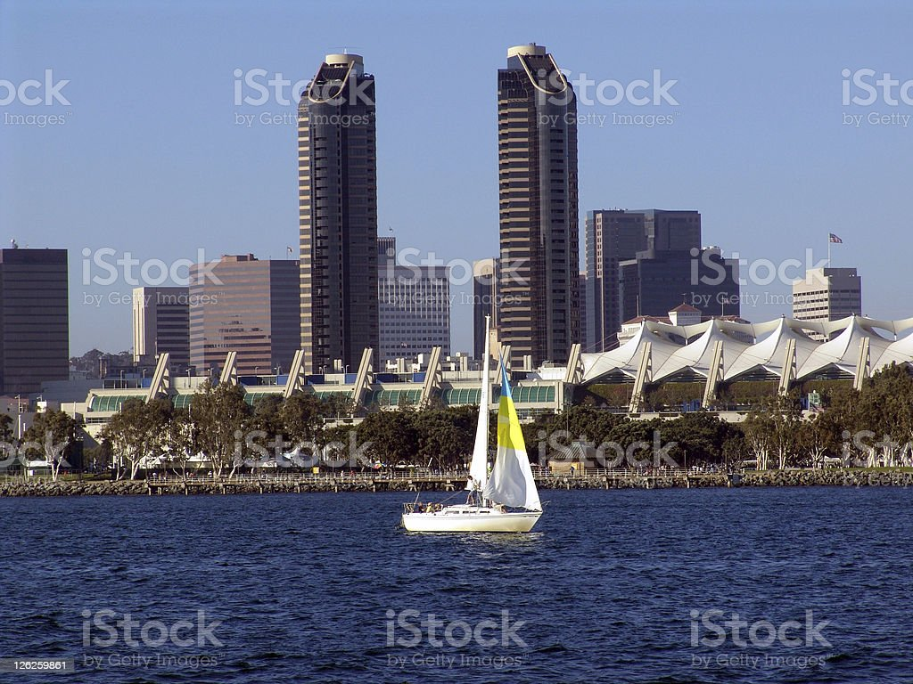 Sailing in San Diego royalty-free stock photo