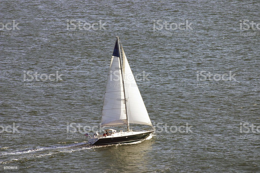 Sailing in San Diego stock photo
