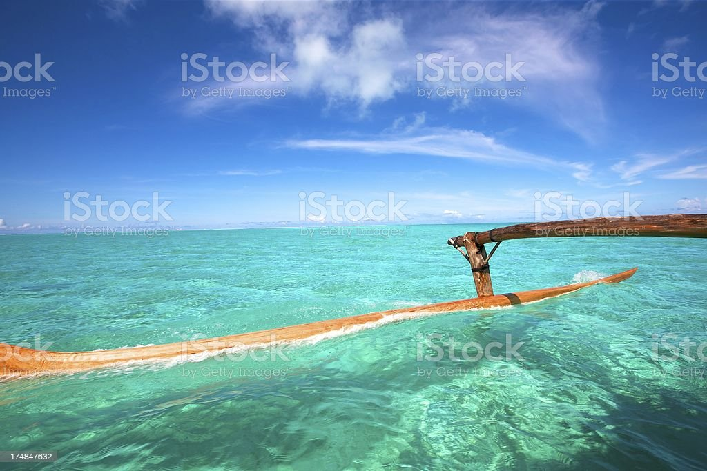 Sailing in South Pacific royalty-free stock photo