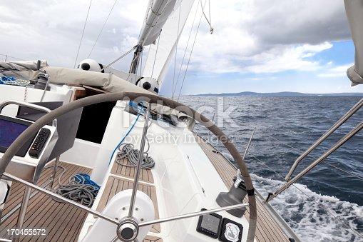 Sailing in the Adriatic Sea, Croatia.
