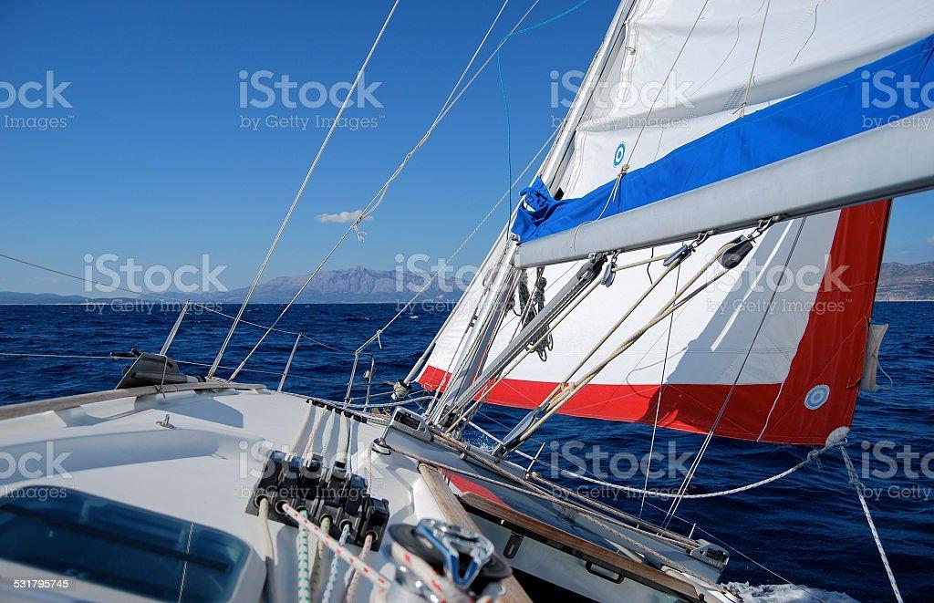 Sailing in the Adriatic Sea stock photo