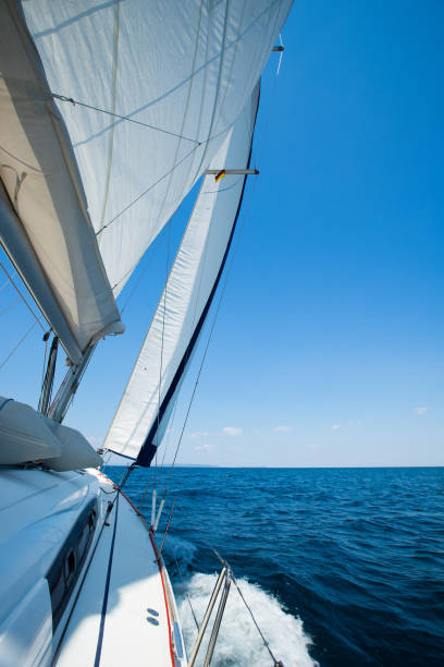sailing in the mediterranean sea sailing in the mediterranean sea rigging stock pictures, royalty-free photos & images