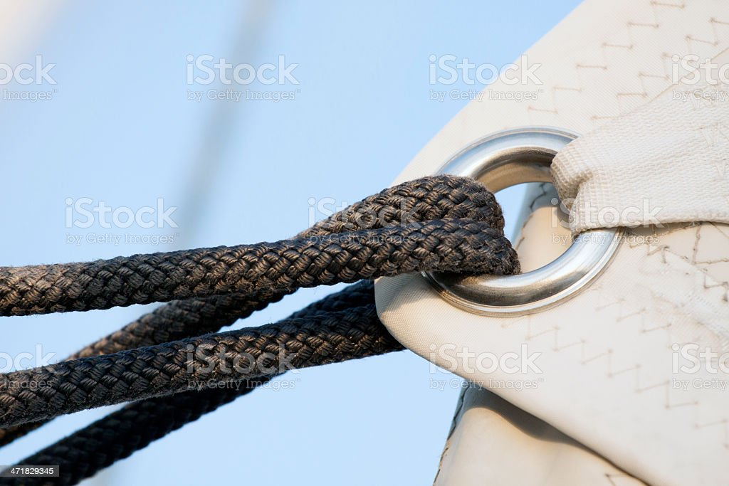 Sailing in the wind royalty-free stock photo
