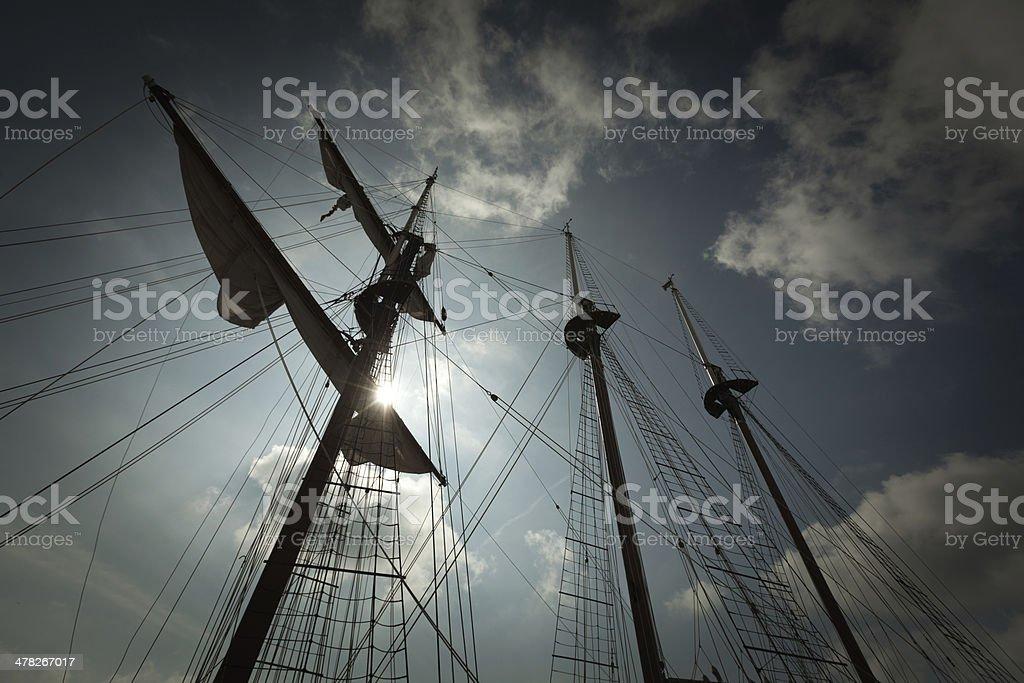 Sailing Mast of Tall Ship royalty-free stock photo