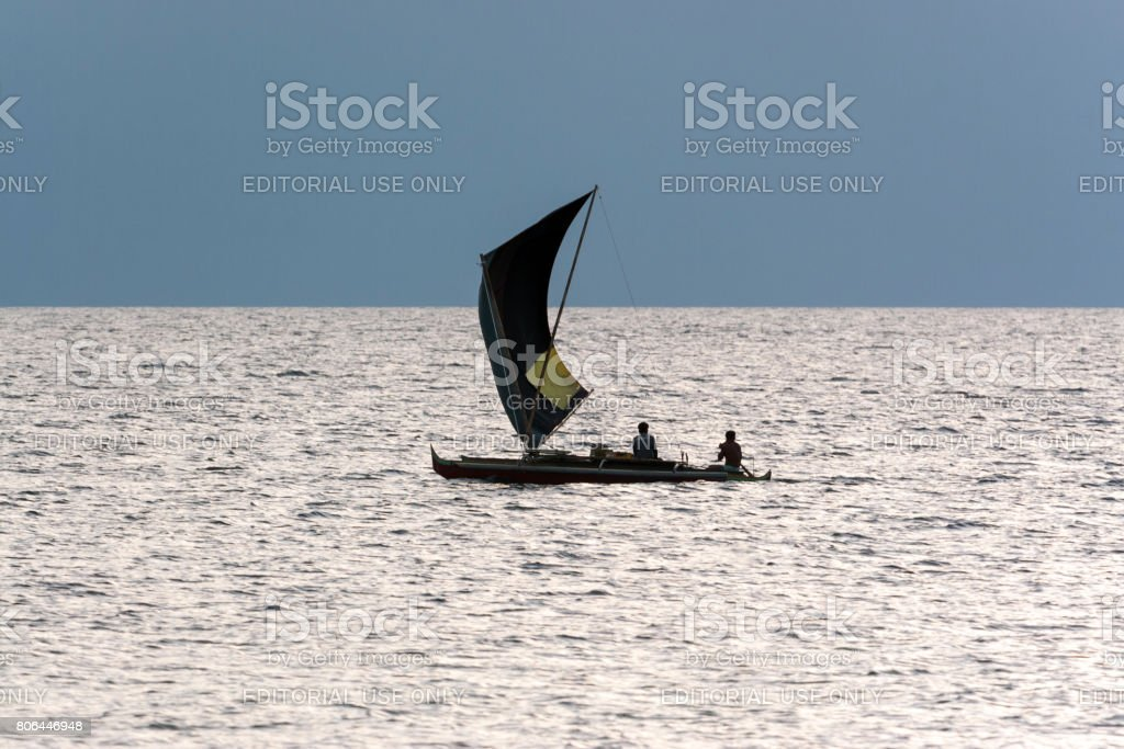 Sailing n the afternoon. stock photo