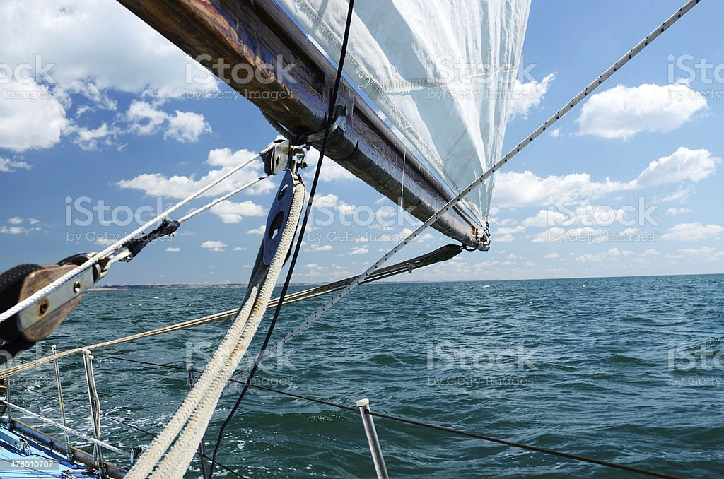 Sailing on a sunny day royalty-free stock photo