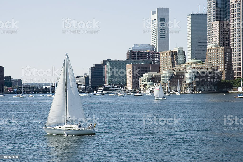 Sailing on St Charles River stock photo