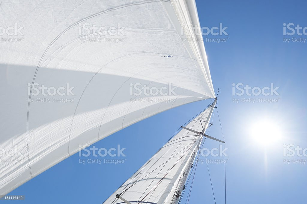 Sailing on sunny day royalty-free stock photo