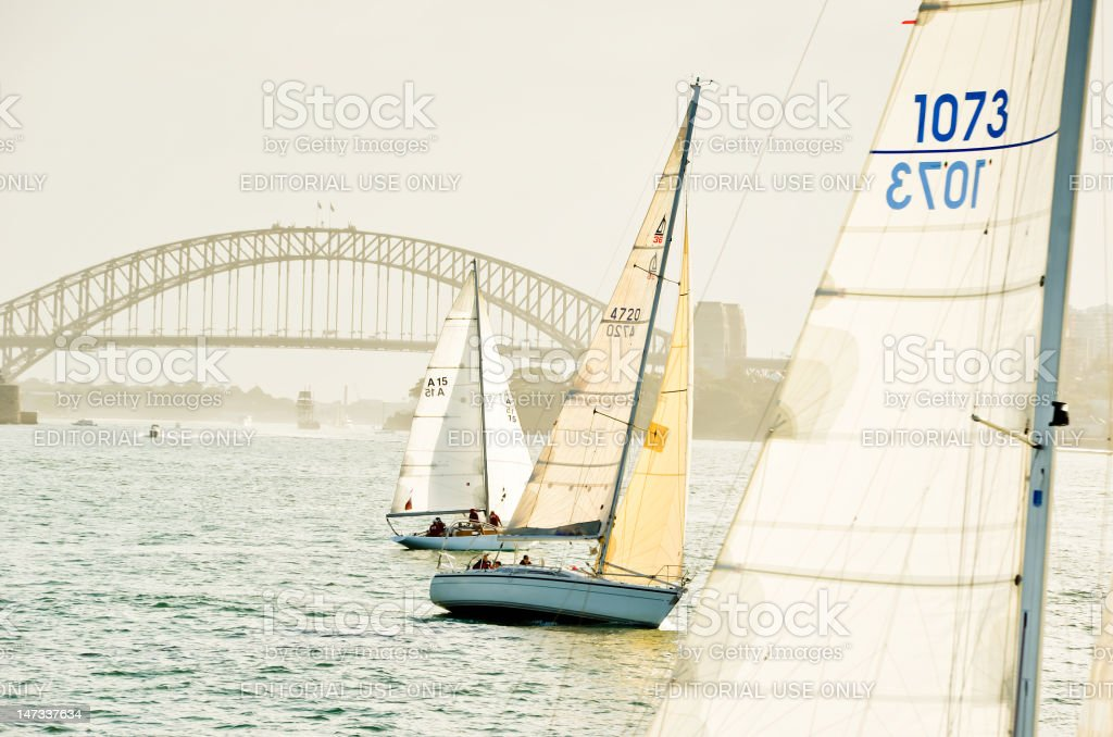Sailing on Sydney Harbour royalty-free stock photo