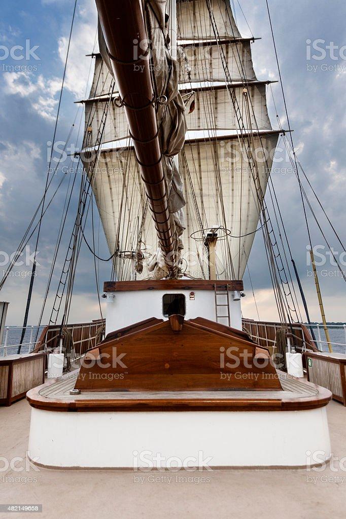 Sailing on the Baltic Sea stock photo