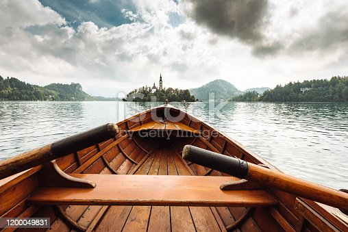 sailing on the bled lake in slovenia