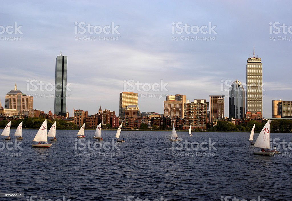 Sailing on the Charles stock photo
