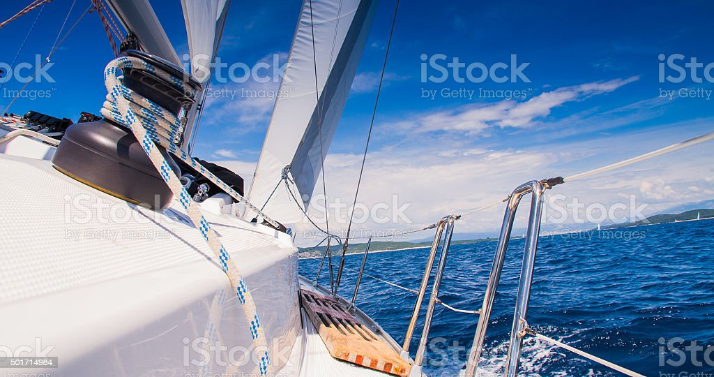 Sailing On The Ocean stock photo